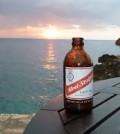 red stripe bottle