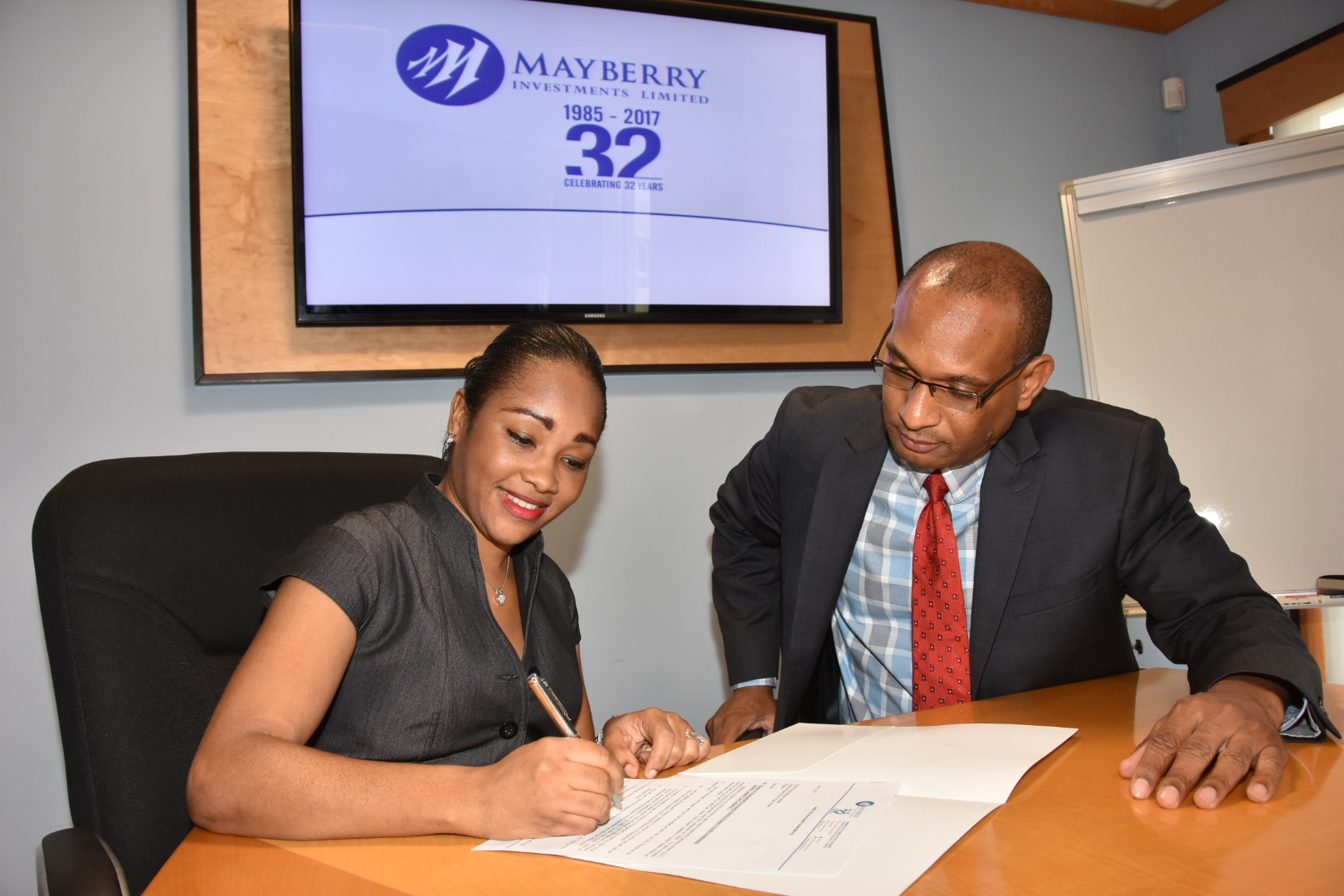 "Mayberry Signs ""Lockup Agreement""  With Scotia Group For Scotia Investments At J$38.00"